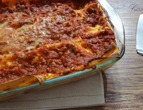 Lasagne con prosciutto e mozzarella
