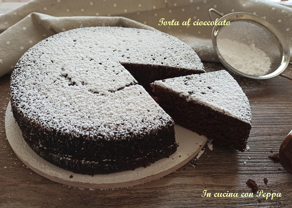 torta al cioccolato sofficissima con microonde