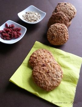 videoricetta biscotti ai cereali e bacche di Goji