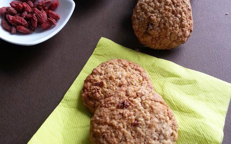 Biscotti ai cereali e bacche di Goji