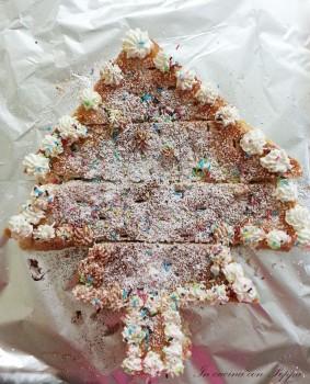 albero di sfoglia con crema al mascarpone