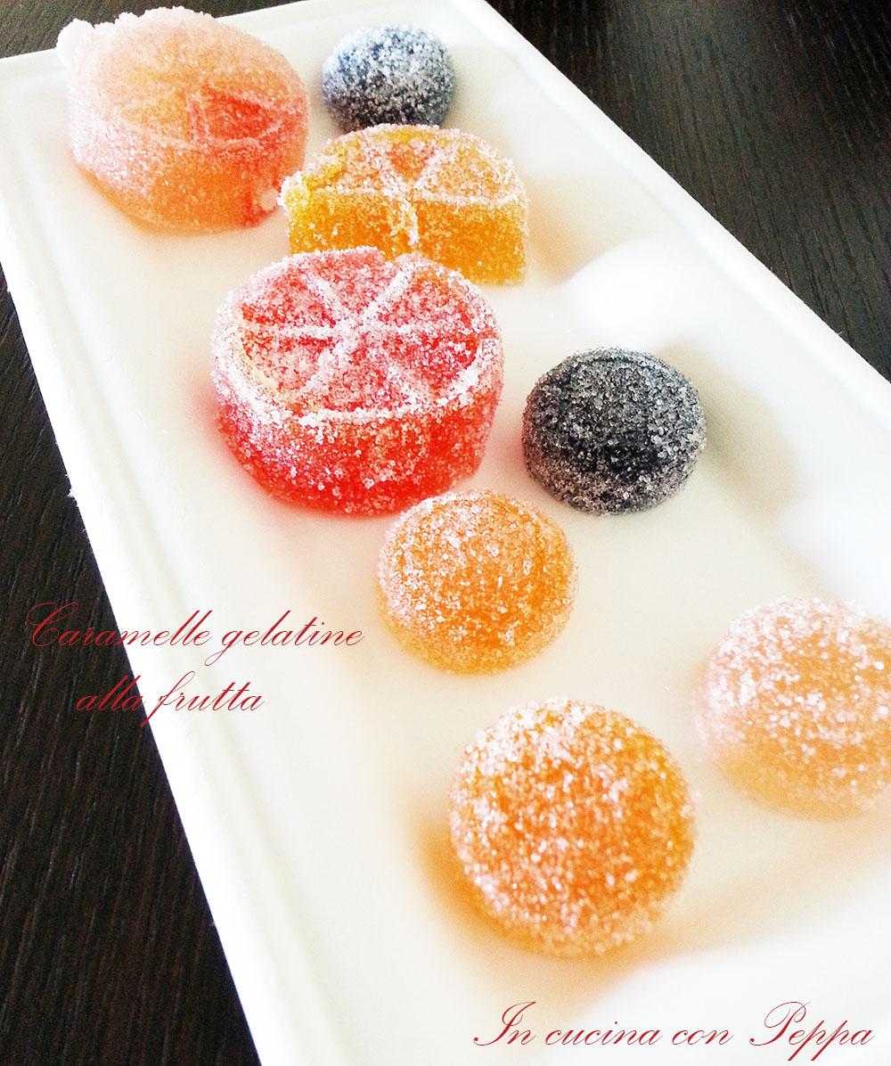 cramelle gelatine alla frutta