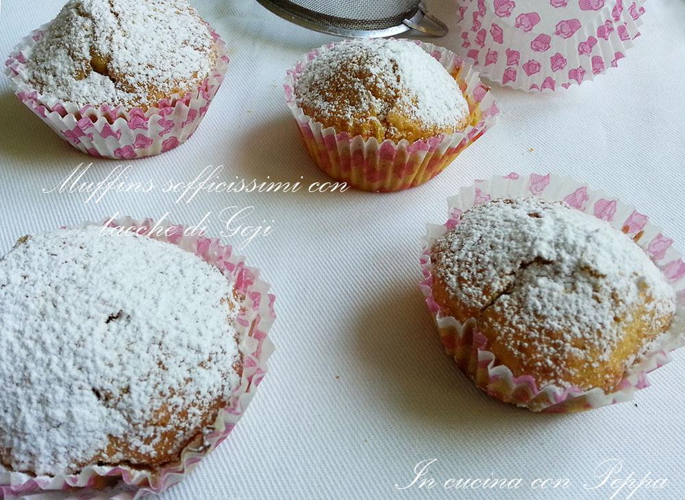 muffins sofficissimi con bacche di goji