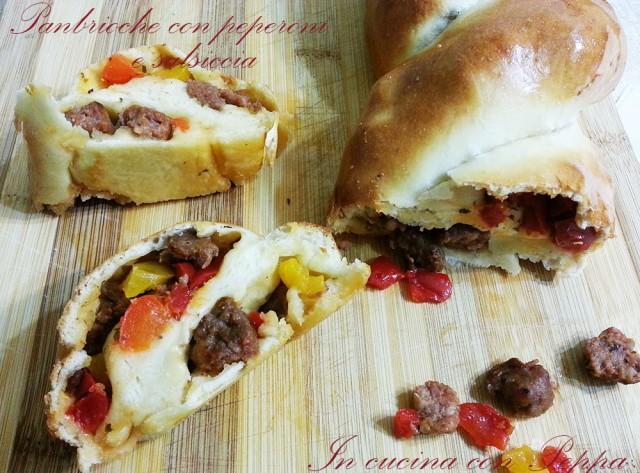 panbrioche con peperoni e salsiccia1