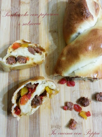 panbrioche bimby con peperoni e salsiccia