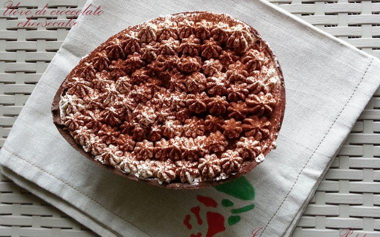 Uovo di cioccolato cheesecake