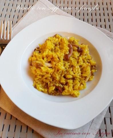 risotto con zafferano e funghi