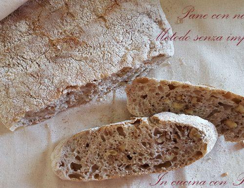 Pane con noci senza impasto di Jim Lahey