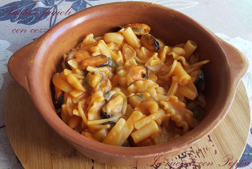 Pasta e fagioli con cozze