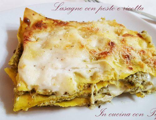 Lasagne con pesto e ricotta