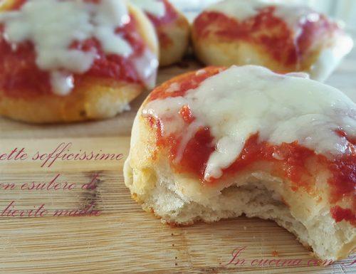 Pizzette con esubero di pasta madre