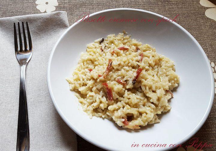 risotto cremoso con speck