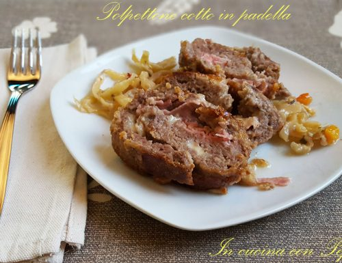 Polpettone cotto in padella – ricetta senza forno