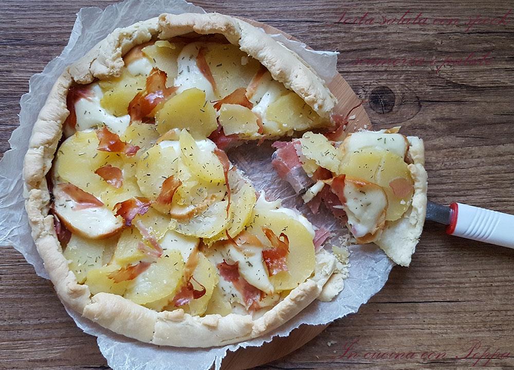 Torta salata con speck scamorza e patate