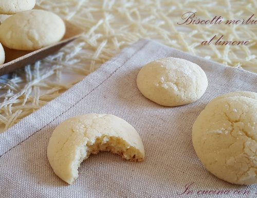 Biscotti morbidi al limone – ricetta semplice