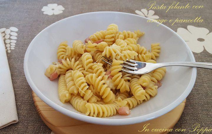 pasta filante asiago e pancetta