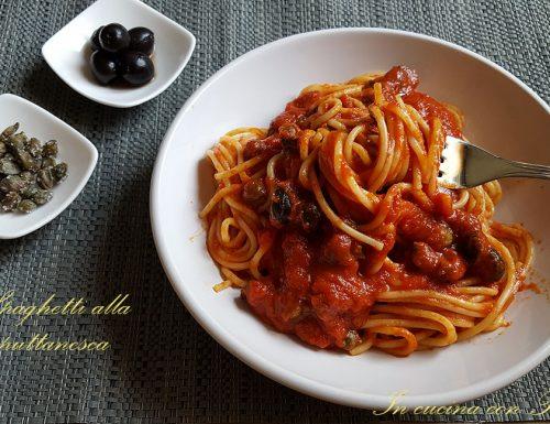 """Spaghetti alla puttanesca – """"aulive e chiappariell"""""""