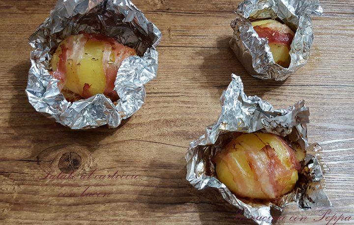 patate al cartoccio con bacon