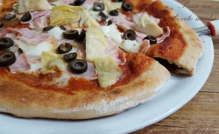 Pizza con lievito madre buona e digeribile
