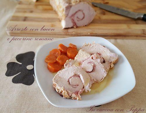 Arrosto di lonza al latte con bacon e pecorino