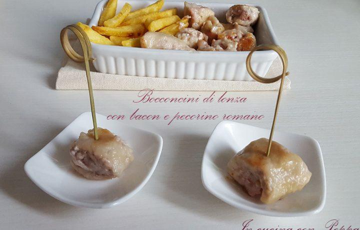 Bocconcini di lonza con bacon e pecorino