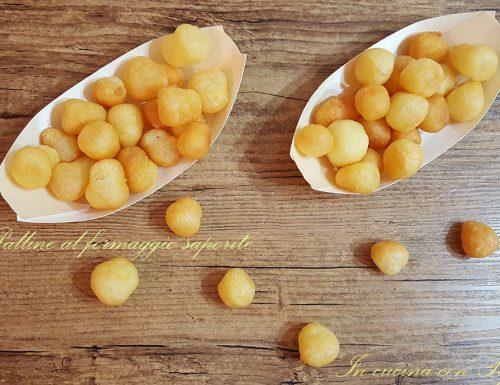 Palline al formaggio saporite con e senza bimby