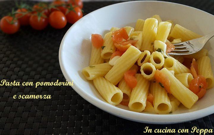 pasta con pomodorini e scamorza
