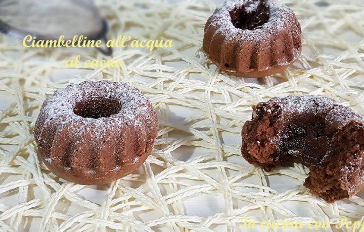 Ciambelline all'acqua al cacao – ricetta semplicissima