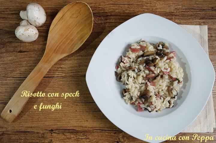 risotto con speck e funghi