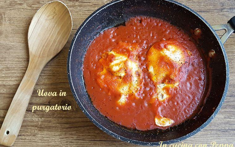 Uova in purgatorio – ricetta tipica campana (uova con sugo)
