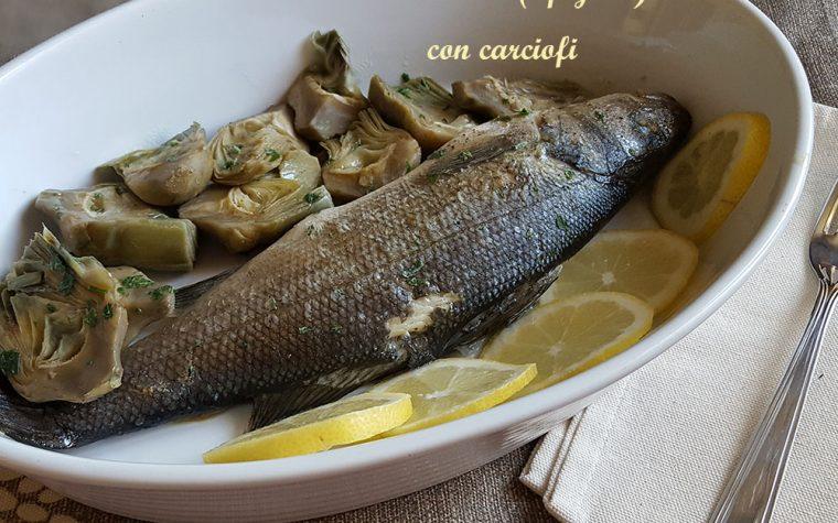 Branzino-spigola con carciofi – ricetta gustosa