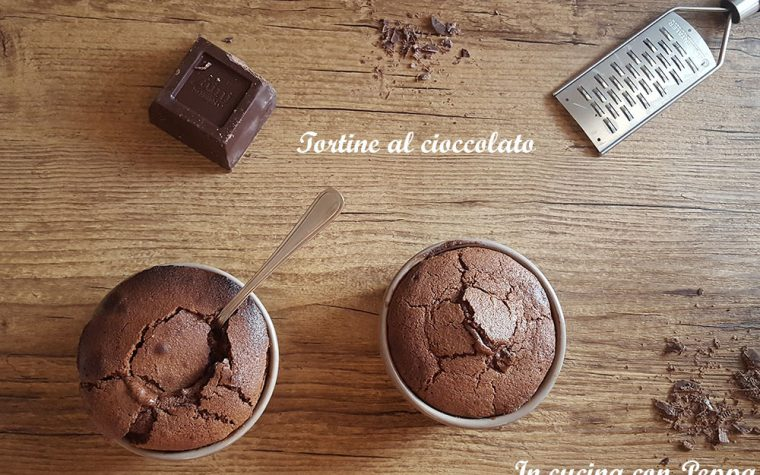 Tortine al cioccolato dal cuore morbido