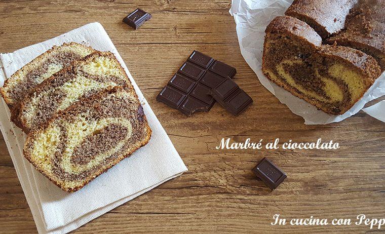 Marbré al cioccolato – ricetta dolce soffice e delizioso