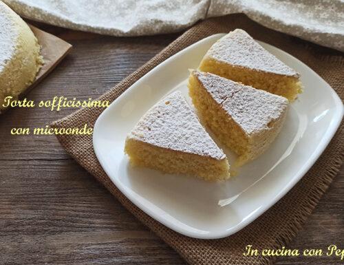 Torta sofficissima con microonde