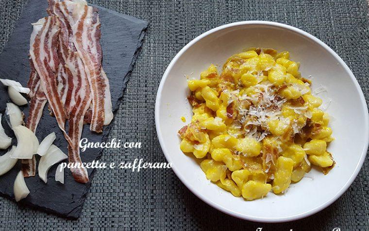 Gnocchi con pancetta e zafferano – ricetta saporita