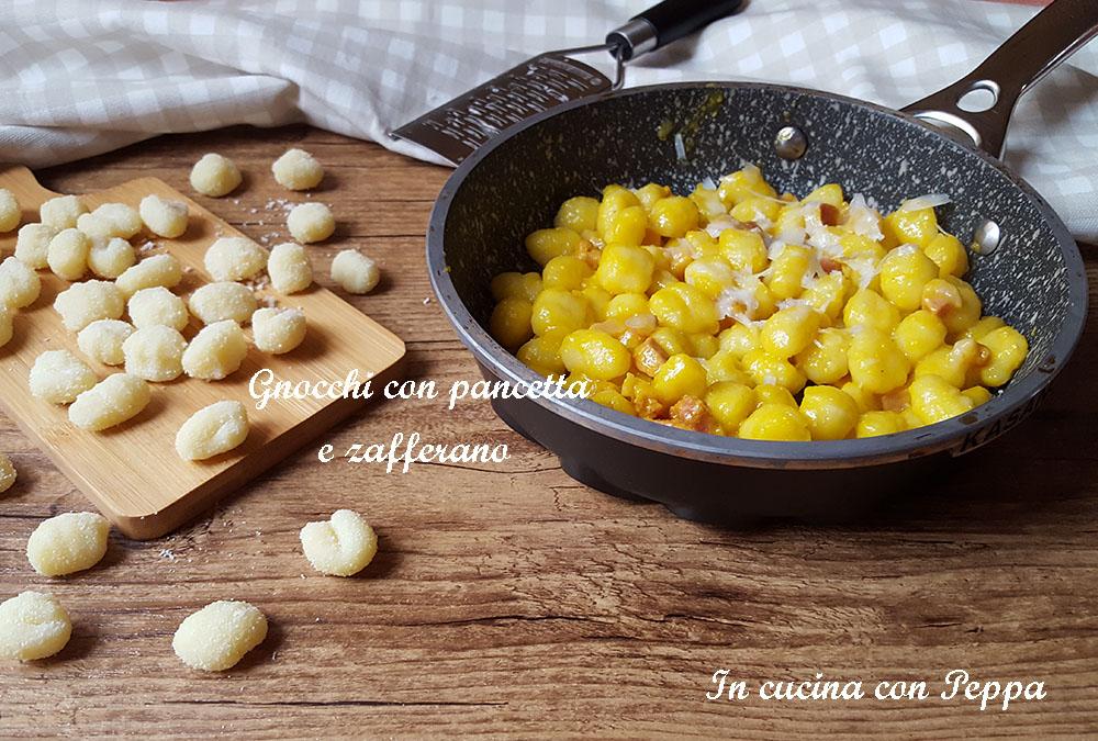 gnocchi con pancetta e zafferano