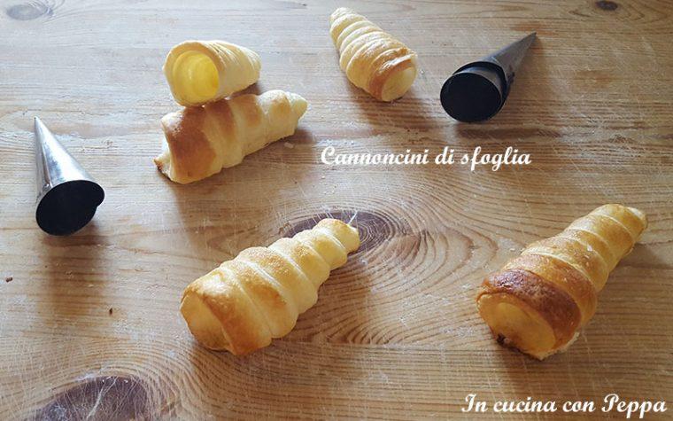 Cannoncini di sfoglia per preparazioni dolci o salate
