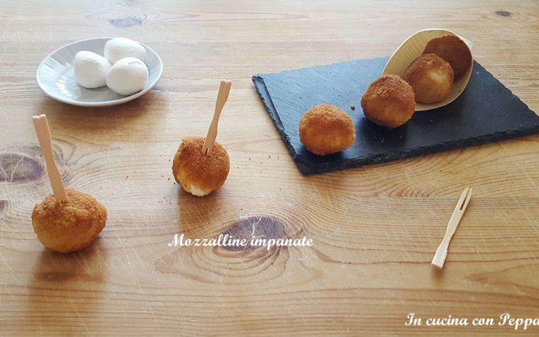 Mozzarelline impanate fatte in casa