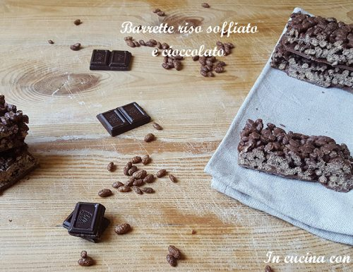 Barrette riso soffiato e cioccolato