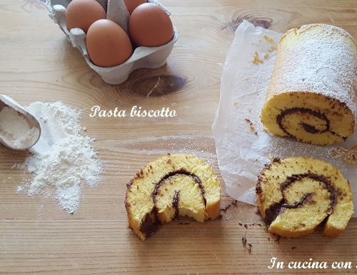 Pasta biscotto – base per rotoli (pasta biscuit)