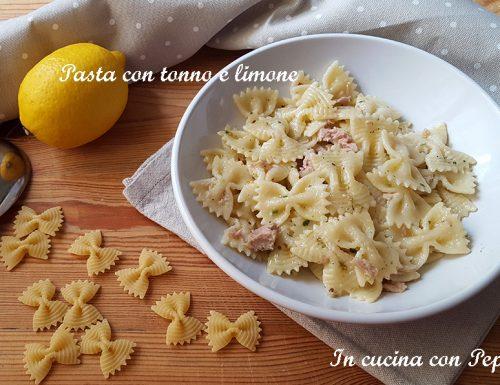 Pasta con tonno e limone – ricetta gustosa