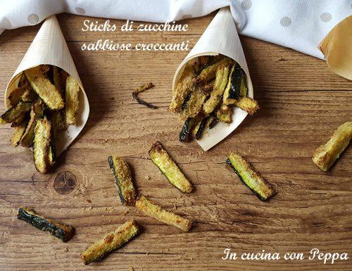 Zucchine sabbiose croccanti con friggitrice ad aria