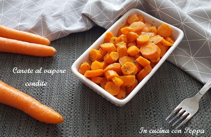 carote al vapore condite