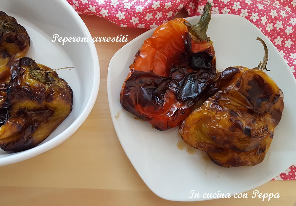 peperoni arrostiti con friggitrice ad aria