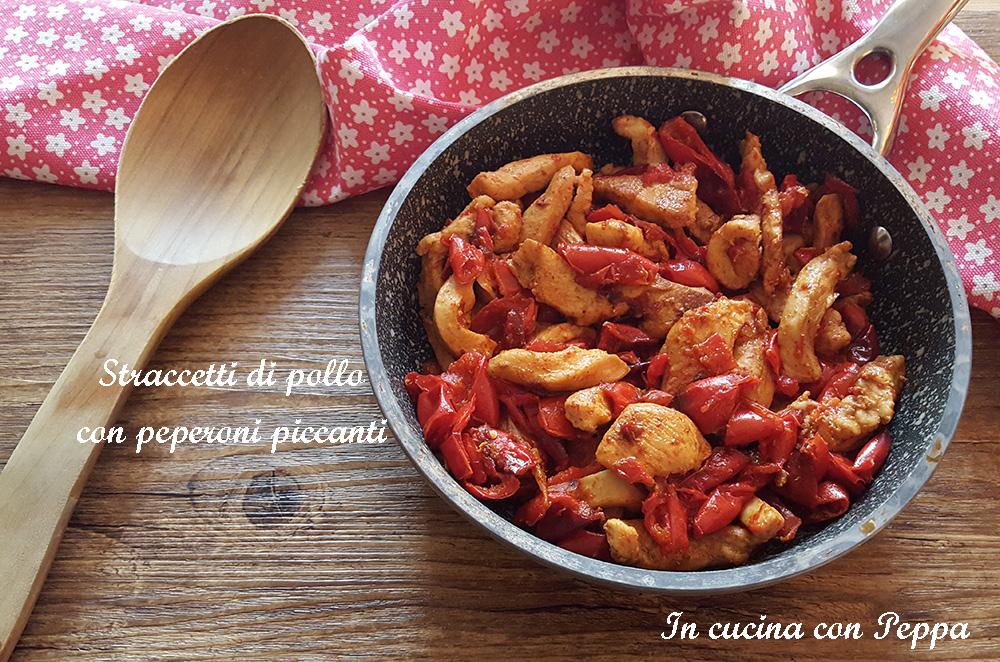 straccetti di pollo con peperoni piccanti