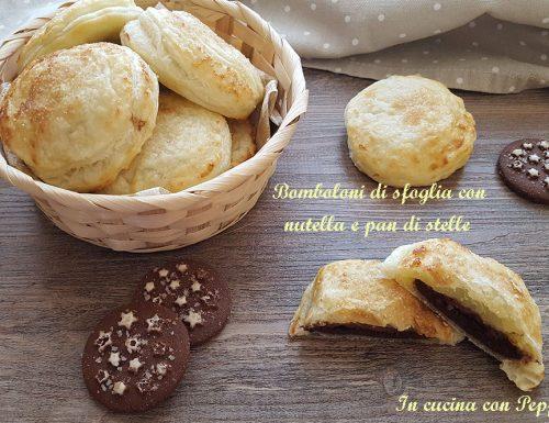 Bomboloni di sfoglia con nutella e pan di stelle