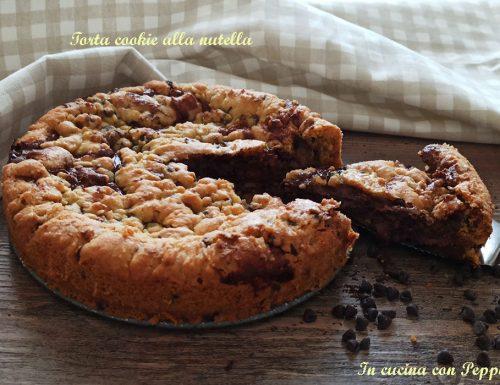 Torta cookie alla nutella – ricetta golosa