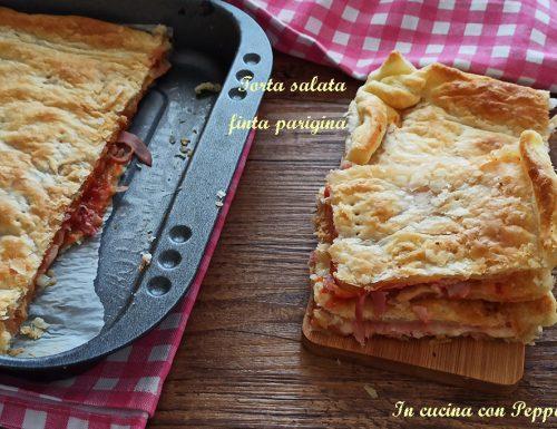 Torta salata finta parigina-veloce e saporita