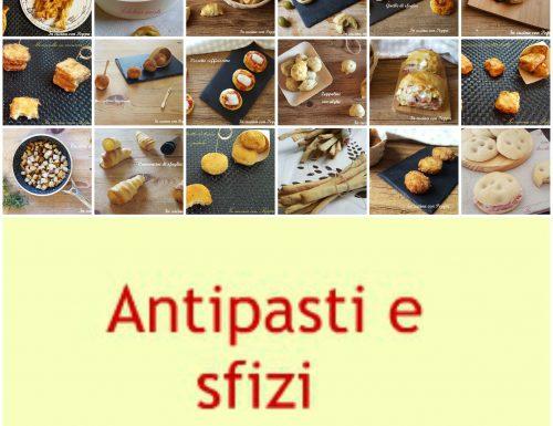 Stuzzichini e sfizi vari per antipasti, aperitivi, buffet