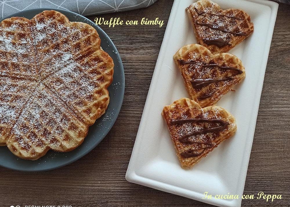 Ricetta Wafer Con Bimby.Waffel Bimby Waffle O Gaufre In Cucina Con Peppa